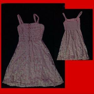 Baby pink mini dress